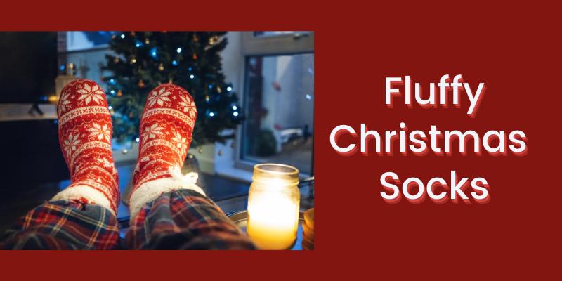 Fluffy christmas socks: Christmas gift Ideas