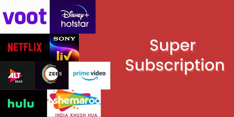 Super Subscription: Christmas gift Ideas