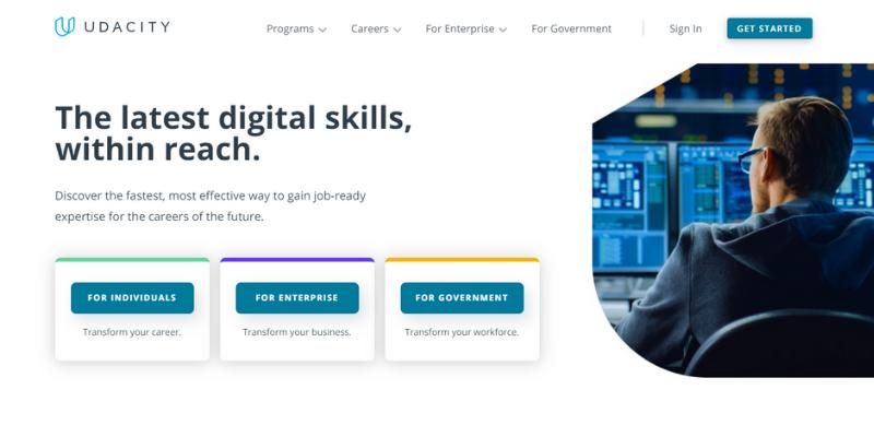 Udacity: best site to learn digital skills.